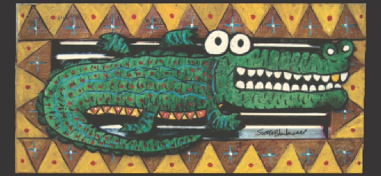 Sculpture Creole Gator